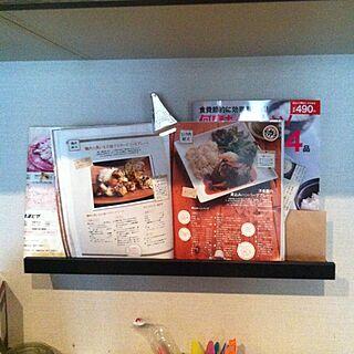 女性42歳の家族暮らし3LDK、レシピスタンドに関するToshikoさんの実例写真