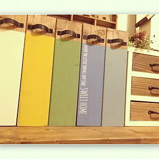 机/小引き出しDIY/ナチュラル/書類収納/ブックスタンド/好きな色オンパレード...などのインテリア実例 - 2016-02-15 18:30:14