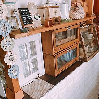 女性家族暮らし3DK、My Desk くらしのeショップに関するmegusanさんの実例写真