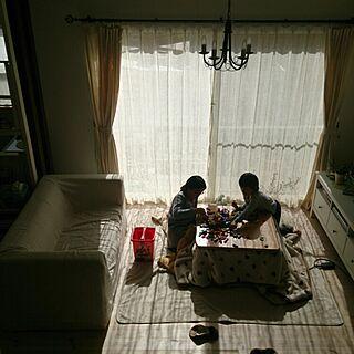 女性家族暮らし4LDK、日曜日の午後に関するcomiriさんの実例写真