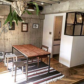 キッチン/マイホーム/手描きイラスト/アート/モルタル...などのインテリア実例 - 2016-08-30 20:36:18
