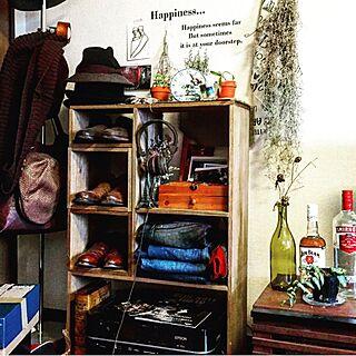 棚/ドライフラワー/ハンドメイド/観葉植物/雑貨...などのインテリア実例 - 2016-03-07 08:53:51