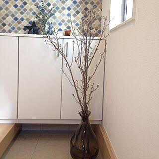玄関/入り口/うさぎさん/IKEA/桜の枝/デザイナーズハウス...などのインテリア実例 - 2017-02-07 12:17:48