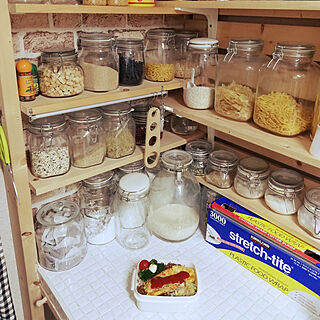 女性49歳の家族暮らし4LDK、調味料棚DIYに関するkazuさんの実例写真