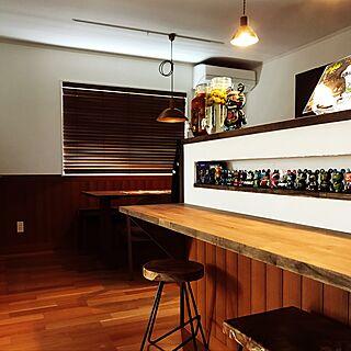 キッチン/自家製梅酒/バイナルメーション/カウンターテーブル/腰壁...などのインテリア実例 - 2017-06-24 11:44:20