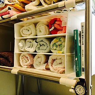 女性家族暮らし1LDK、洗面所DIYに関するokapipiさんの実例写真