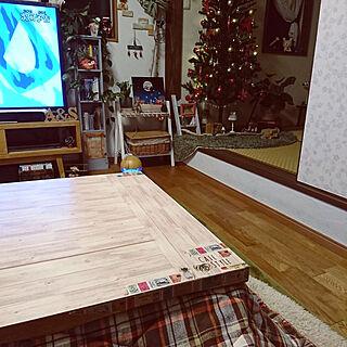 机/天板にリメイクシート/ツリー/クリスマス/観葉植物のある部屋のインテリア実例 - 2017-11-25 18:30:07