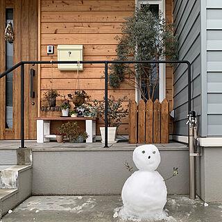 冬/雪/スワッグ/DIY/ベンチ...などのインテリア実例 - 2021-01-17 21:24:32