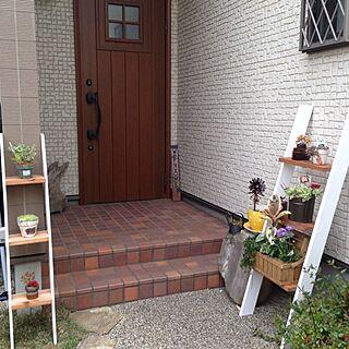 玄関/入り口/多肉植物/DIY/パパ木工/ハンドメイド/植物のインテリア実例 - 2014-05-12 14:16:23