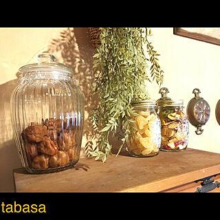 キッチン/かご/フェイクグリーン/キッチンディスプレイ雑貨/木製看板...などのインテリア実例 - 2018-02-15 12:44:52