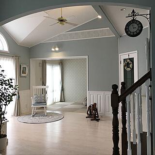 リビング/白い床/ナチュラルフェイス/洋風和室/和紙畳...などのインテリア実例 - 2018-06-07 22:16:52