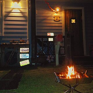 女性家族暮らし、焚火に関するmikitanさんの実例写真