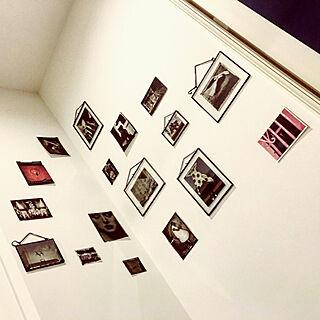 壁/天井/サラムーン/ウォールデコ/フォトフレーム/壁に飾る...などのインテリア実例 - 2017-09-16 17:51:57