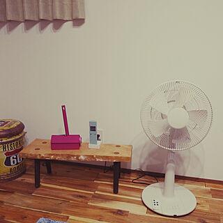 リビング/扇風機/アカシアの床/平屋の家/8畳のリビング...などのインテリア実例 - 2018-07-13 21:02:32