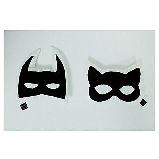 バットマン/キャットマスク/ハンドメイド/ミニクッション/白黒...などのインテリア実例 - 2014-07-28 16:17:26