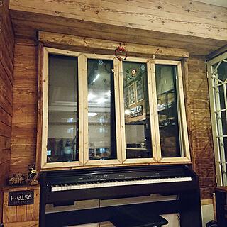 部屋全体/カフェ風/マンション/窓枠DIY/板壁DIY...などのインテリア実例 - 2017-12-10 23:06:18