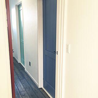 女性家族暮らし、子供部屋のドアに関するkhma88さんの実例写真