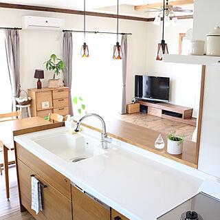 女性家族暮らし3LDK、キッチンの天井に関するmiomioさんの実例写真