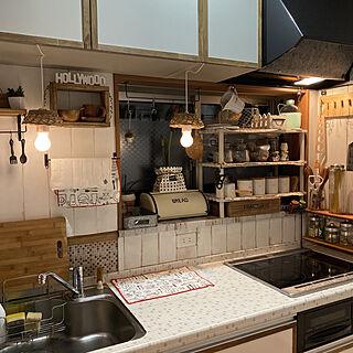 板壁風DIY/キッチン/セリア/おうちカフェ/カフェ風インテリア...などのインテリア実例 - 2020-04-07 19:19:26