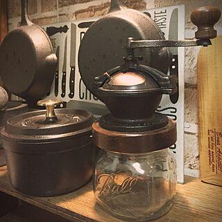 リビング/カマノコーヒーミル/Camano Coffee Mill/STAUB/キャンドゥ...などのインテリア実例 - 2016-07-13 20:18:15