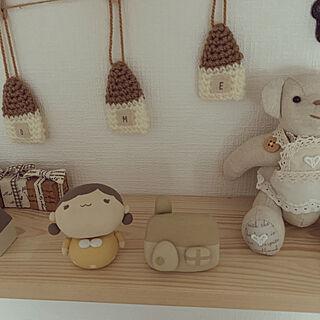 ぷち仔ちゃん♡/puni.punikoちゃんの作品/puni.puniko ちゃん♡/いつもいいねありがとうございます♡/minneで購入♡...などのインテリア実例 - 2020-01-21 15:34:41