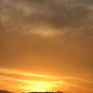 玄関/入り口/綺麗な空/空/冬の空/夕陽...などのインテリア実例 - 2018-12-01 23:59:57