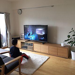 女性家族暮らし、テレビ台 スタッキングキャビネットに関するmaaLさんの実例写真