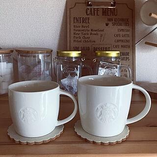 男性家族暮らし2LDK、カフェ風キッチン いいね、フォロー本当に感謝です♡に関するyouさんの実例写真