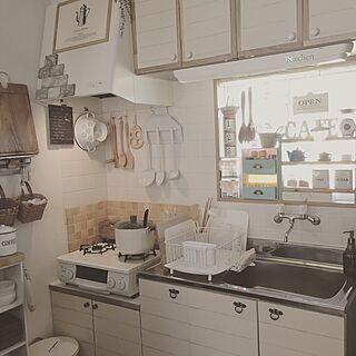 キッチン/昭和キッチン→洋風キッチン/シンク扉DIY/DIY/賃貸DIY...などのインテリア実例 - 2016-12-15 14:49:55