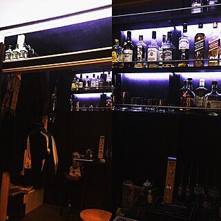 棚/LEDテープライト/DIY/モノトーン/スポットライト...などのインテリア実例 - 2017-02-26 23:13:22