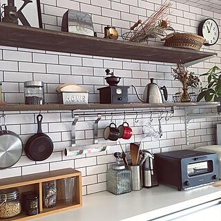 キッチン/見せる収納/KARITA/無印良品 壁に付けられる家具/コーヒーのある暮らし...などのインテリア実例 - 2019-12-11 21:11:27
