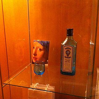 棚/ガラスケース/間接照明/フェルメール/手作り琉球ガラスのインテリア実例 - 2013-10-07 00:48:22