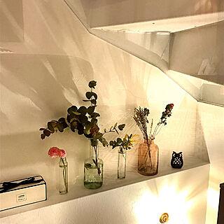 お花のある暮らし/花瓶/ミモザ/階段室/ユーカリ...などのインテリア実例 - 2019-03-08 22:47:17