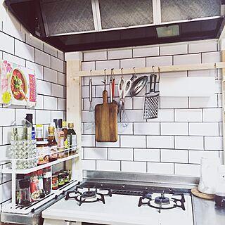 キッチン/コンロ周り/キッチンツール/DIY/ディアウォール...などのインテリア実例 - 2016-10-10 19:47:59