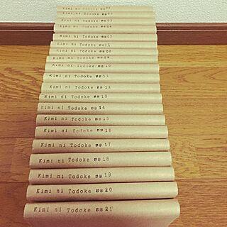 棚/ブックカバー/クラフト紙/ダイソー/スタンプ ラベル...などのインテリア実例 - 2014-11-27 22:26:16