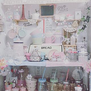 キッチン/100均/ホーローポット/かわいいキッチン/雑貨...などのインテリア実例 - 2018-02-25 19:17:51