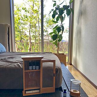 アロマ/寝具/平家で暮らす/たちかわブラインド/寝室の床はオーク...などのインテリア実例 - 2020-07-31 12:47:22