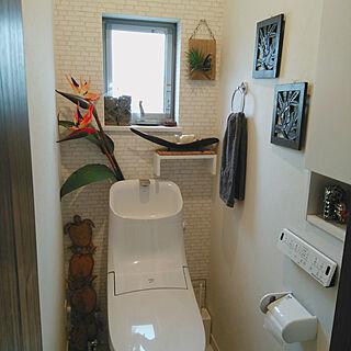 女性家族暮らし3LDK、2Fトイレに関するkoto.ohanaさんの実例写真