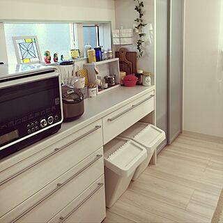 キッチン/多肉ちゃん/ステンドグラス/IKEAダストボックス/フェイクグリーン...などのインテリア実例 - 2016-11-16 09:05:47