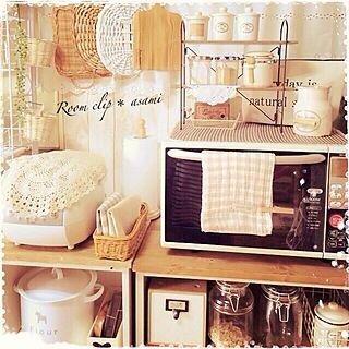 キッチン/かご/うつくしまナチュラル愛好会♡/収納/狭いキッチン...などのインテリア実例 - 2014-06-14 11:37:29
