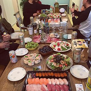女性家族暮らし、ホームパーティーに関するShinoさんの実例写真