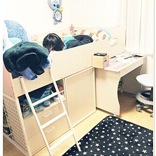 ベッド周り/システムベッドデスク/ニトリ/暮らしの一コマのインテリア実例 - 2018-02-14 21:04:31