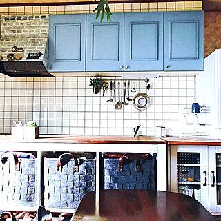 女性家族暮らし3DK、賃貸キッチンDIYに関するparuさんの実例写真