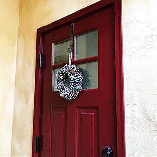 女性家族暮らし3LDK、クリスマスリースに関するjunchanさんの実例写真