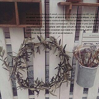女性家族暮らし3LDK、オリーブのリースに関するhivikiさんの実例写真