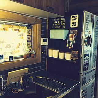 キッチン/男前化計画/整理整頓出来ない人/やりたい放題/匠の技♥︎...などのインテリア実例 - 2014-03-11 17:28:32