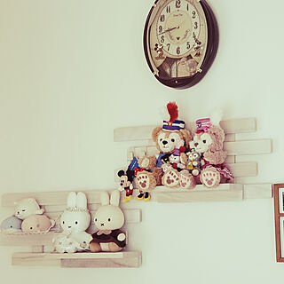 壁/天井/雑貨/かわいいのも好き♡/ブリアール/飾り棚のインテリア実例 - 2019-05-01 08:52:03