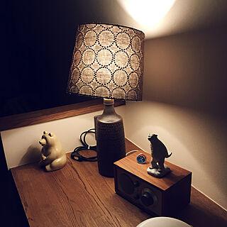 机/mina perhonen/flameの照明がある部屋/しろくま貯金箱/照明...などのインテリア実例 - 2017-12-18 21:10:46