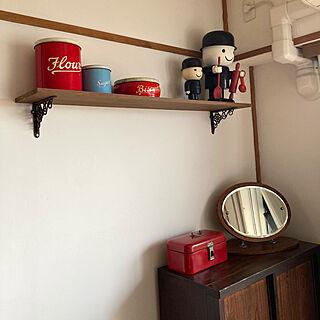 フレッド君/アンティークティン缶/マンション暮らし/アンティーク/DIY...などのインテリア実例 - 2021-04-09 11:21:47