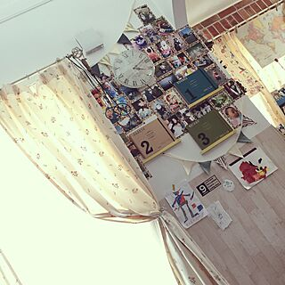 女性家族暮らし4LDK、子どもの絵や写真に関するsyykwさんの実例写真